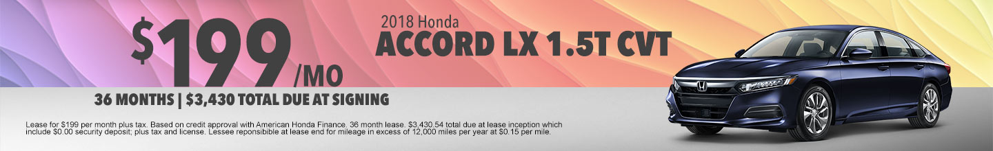 Honda Accord LX 1.5T Lease Special