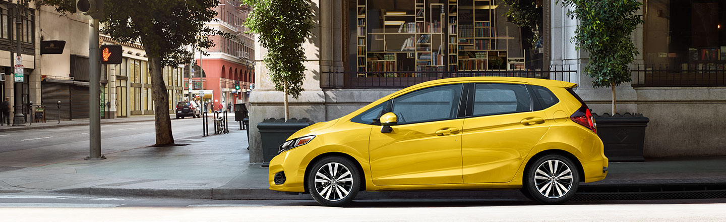 Yellow 2019 Honda Fit for sale at Roush Honda