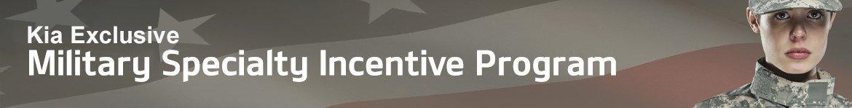 kia exclusive military specialty incentive program