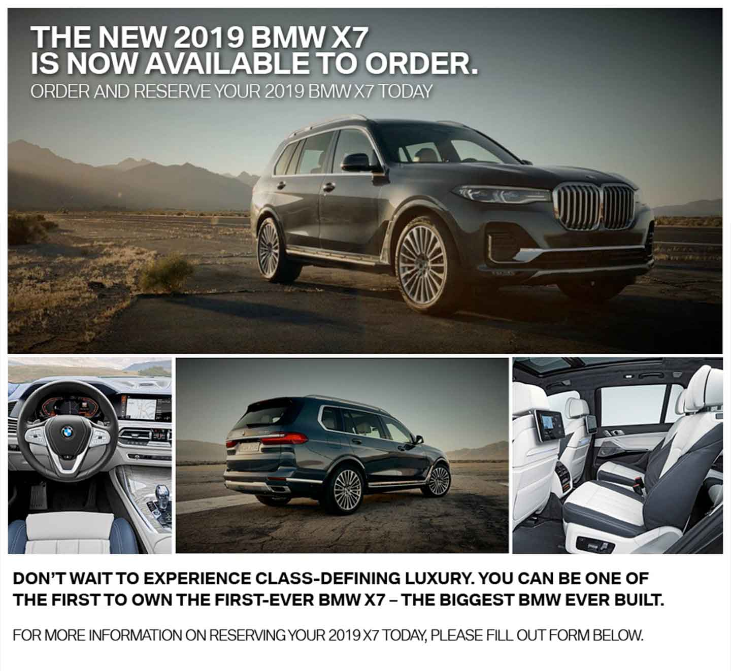 The New 2019 BMW X7 is Now Available to Order