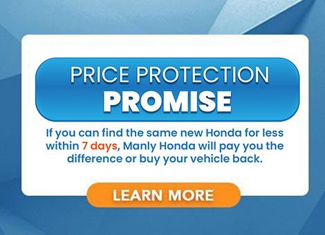 Manly Honda's price protection guarantee