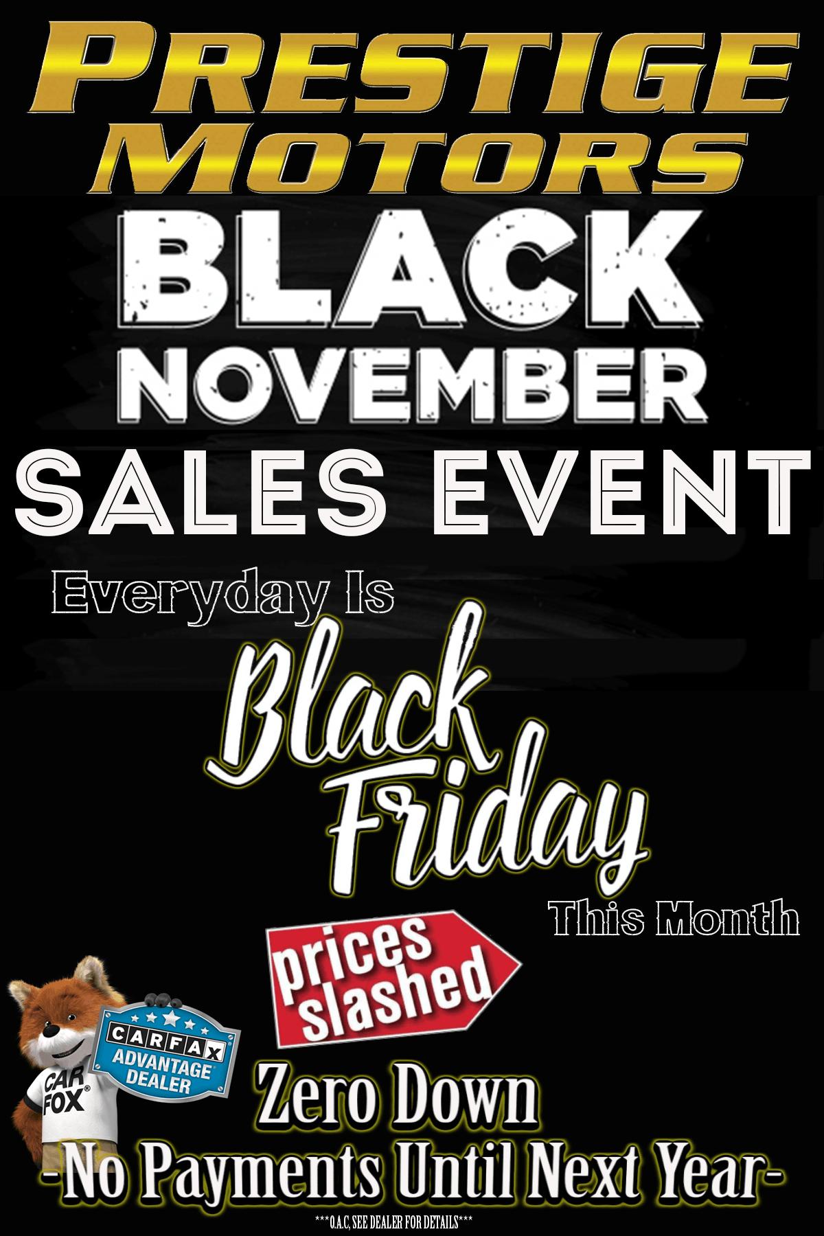 Prestige Motors Black November Sales Event
