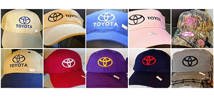 Assorted Toyota Caps / Visors