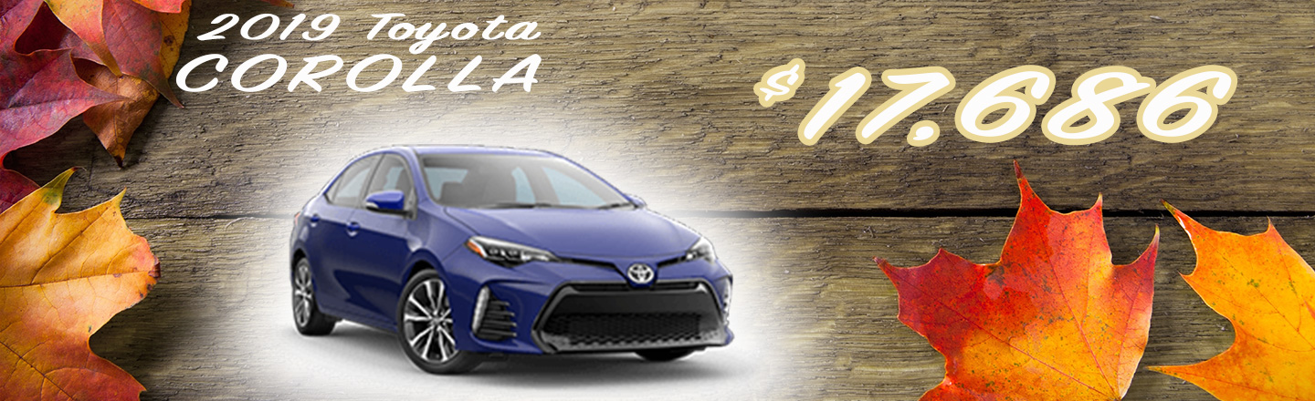 2019 Corolla Special Offer