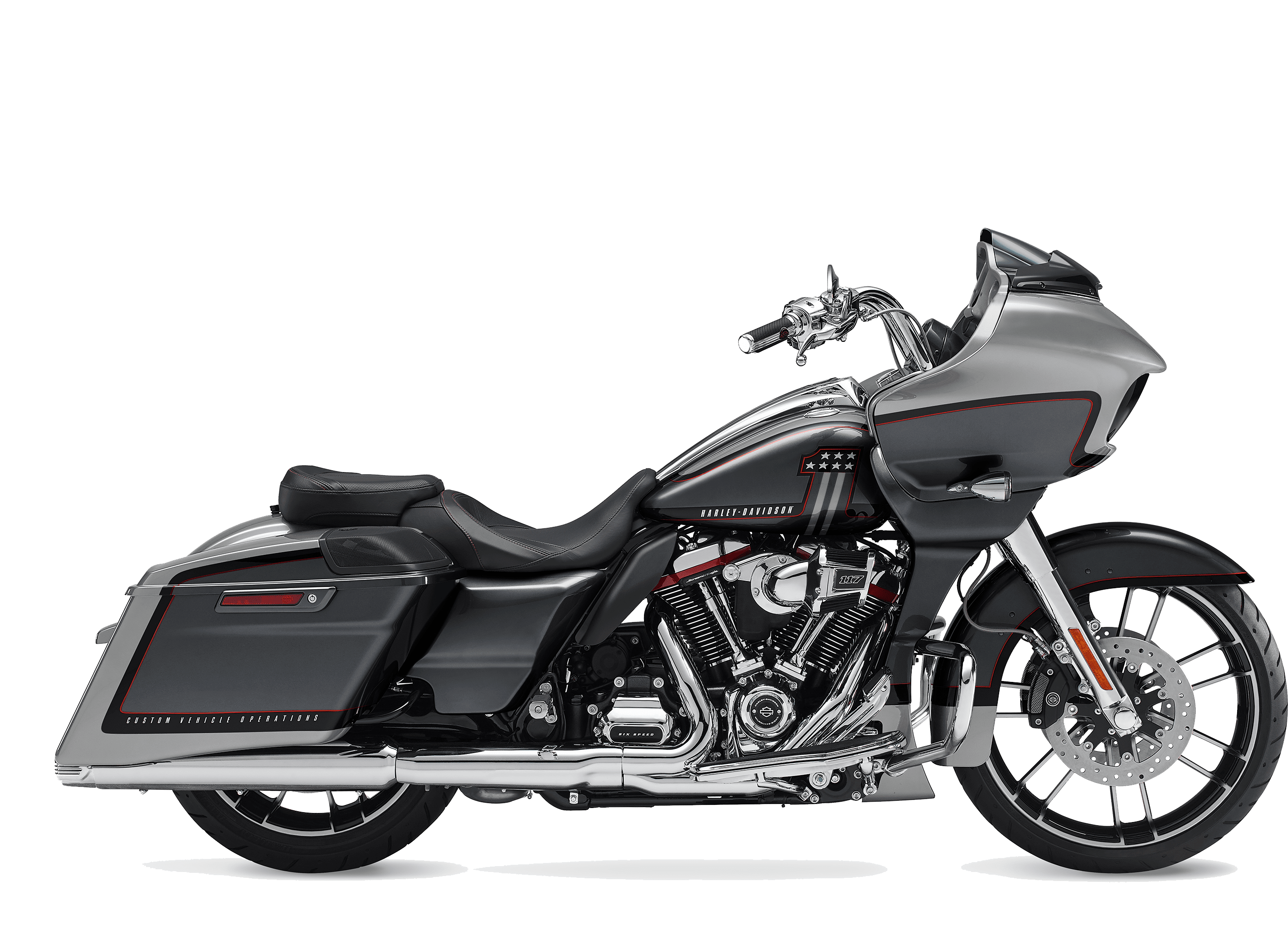 2019 Harley-Davidson H-D CVO™ Road Glide® Lighting Silver and Charred Steel with Black Hole