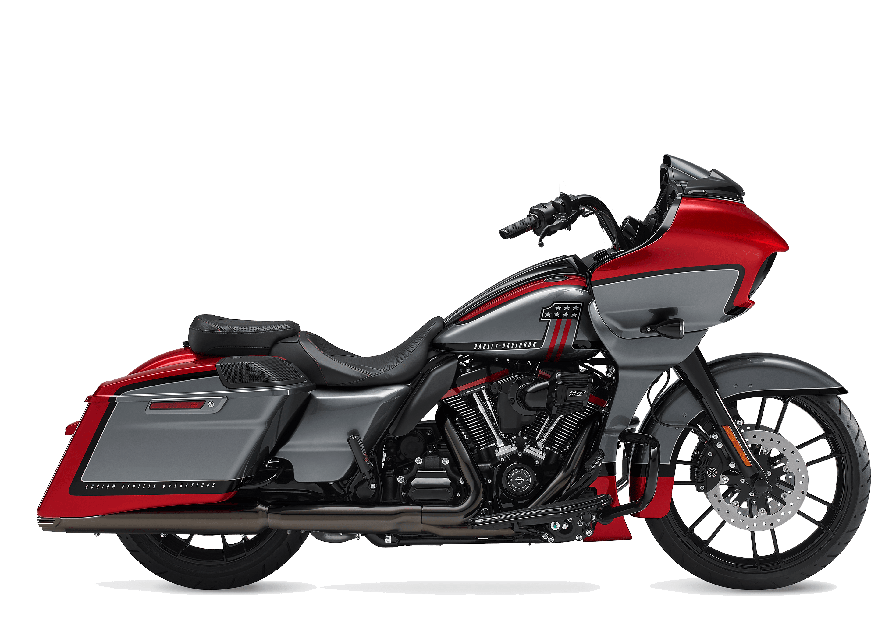 2019 Harley-Davidson H-D CVO Road Glide Red Pepper Magnetic Gray with Black Hole