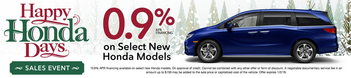 Honda Auto Center of Bellevue | Happy Honda Days - 0.9% on select Honda models