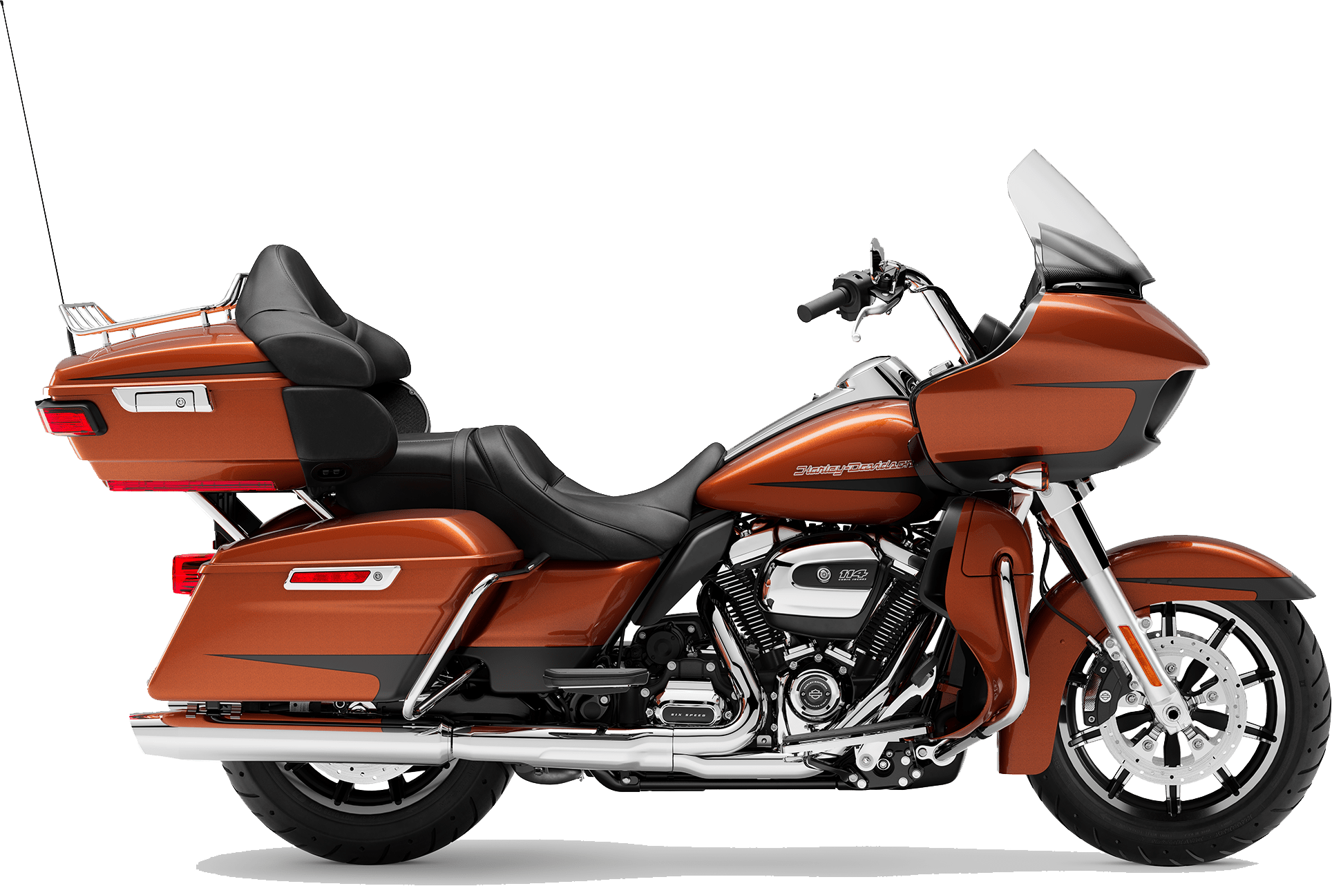 2019 Harley-Davidson H-D Touring Road Glide Ultra Scorched Orange Black Denim