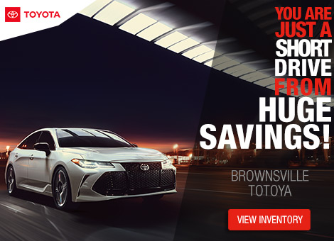Huge Savings from Brownsville Toyota