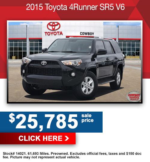 2015 Toyota 4Runner SR5 V6