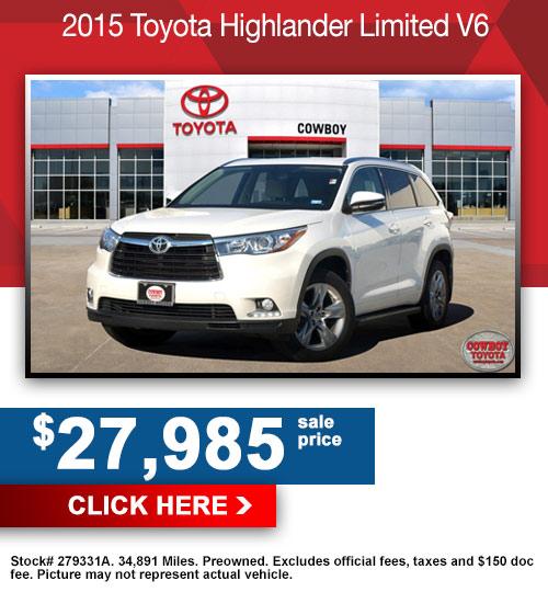 2015 Toyota Highlander Limited V6