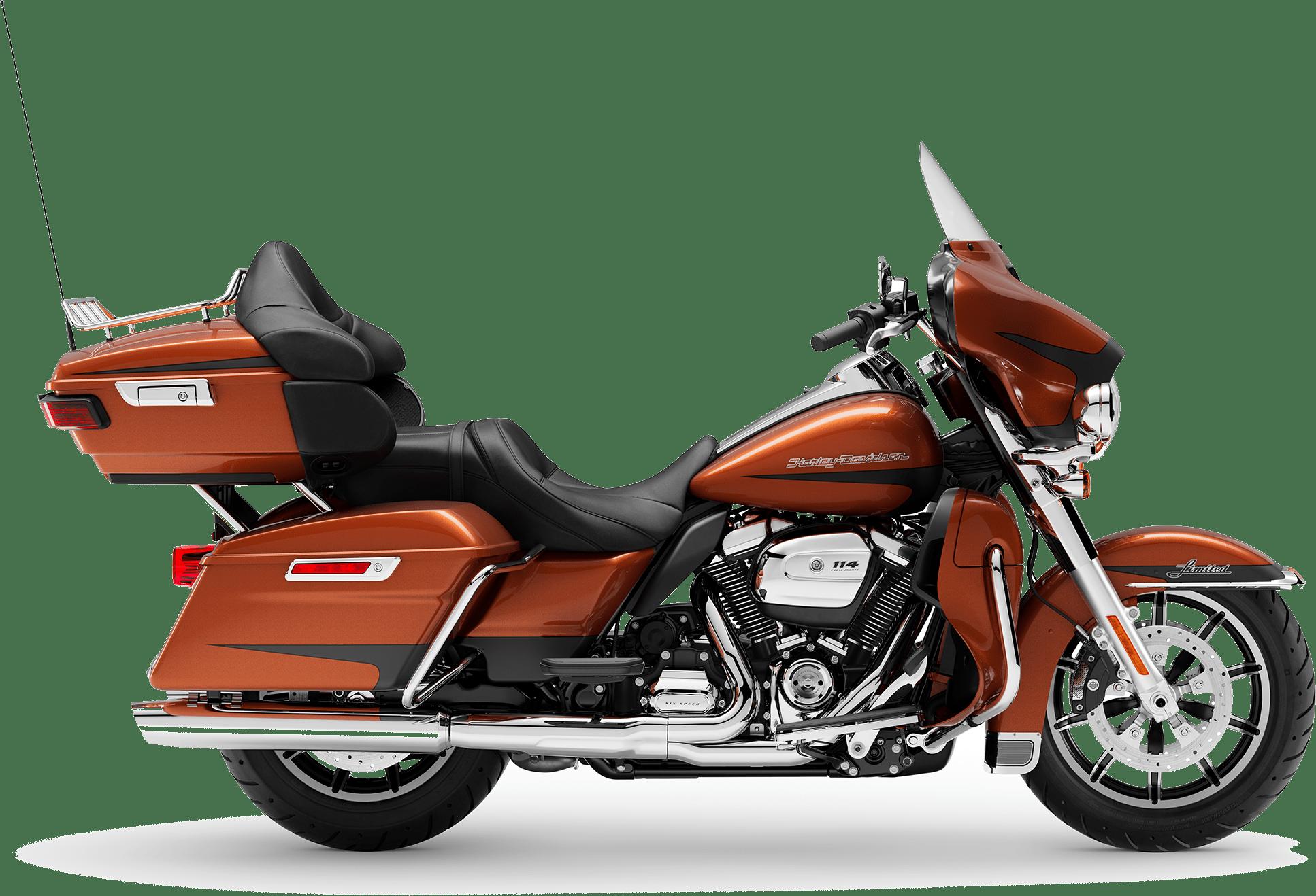 2019 Harley-Davidson H-D Touring Ultra Limited Scorched Orange Black Denim