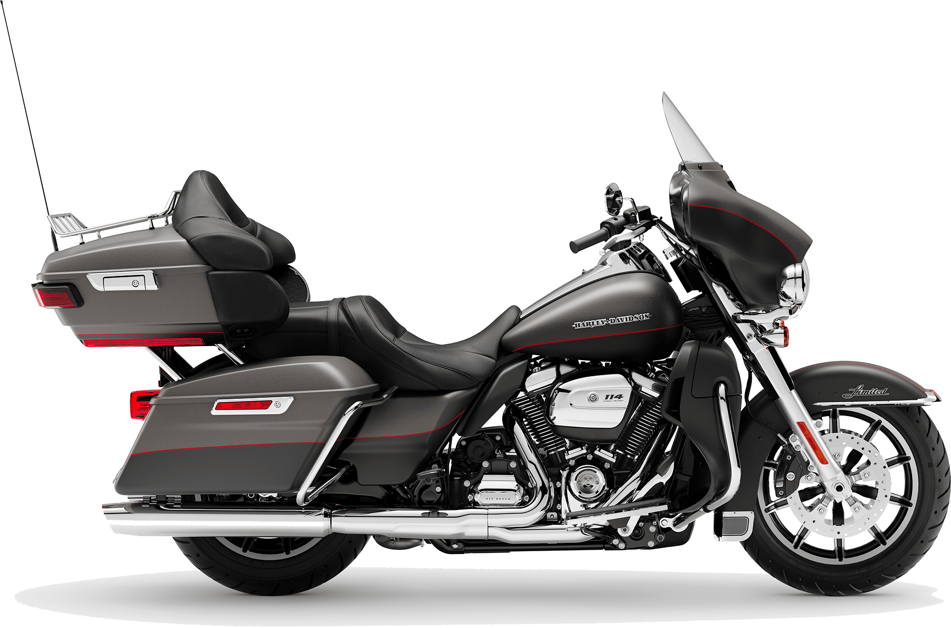 2019 Harley-Davidson H-D Touring Ultra Limited Low Industrial Grey Black Denim