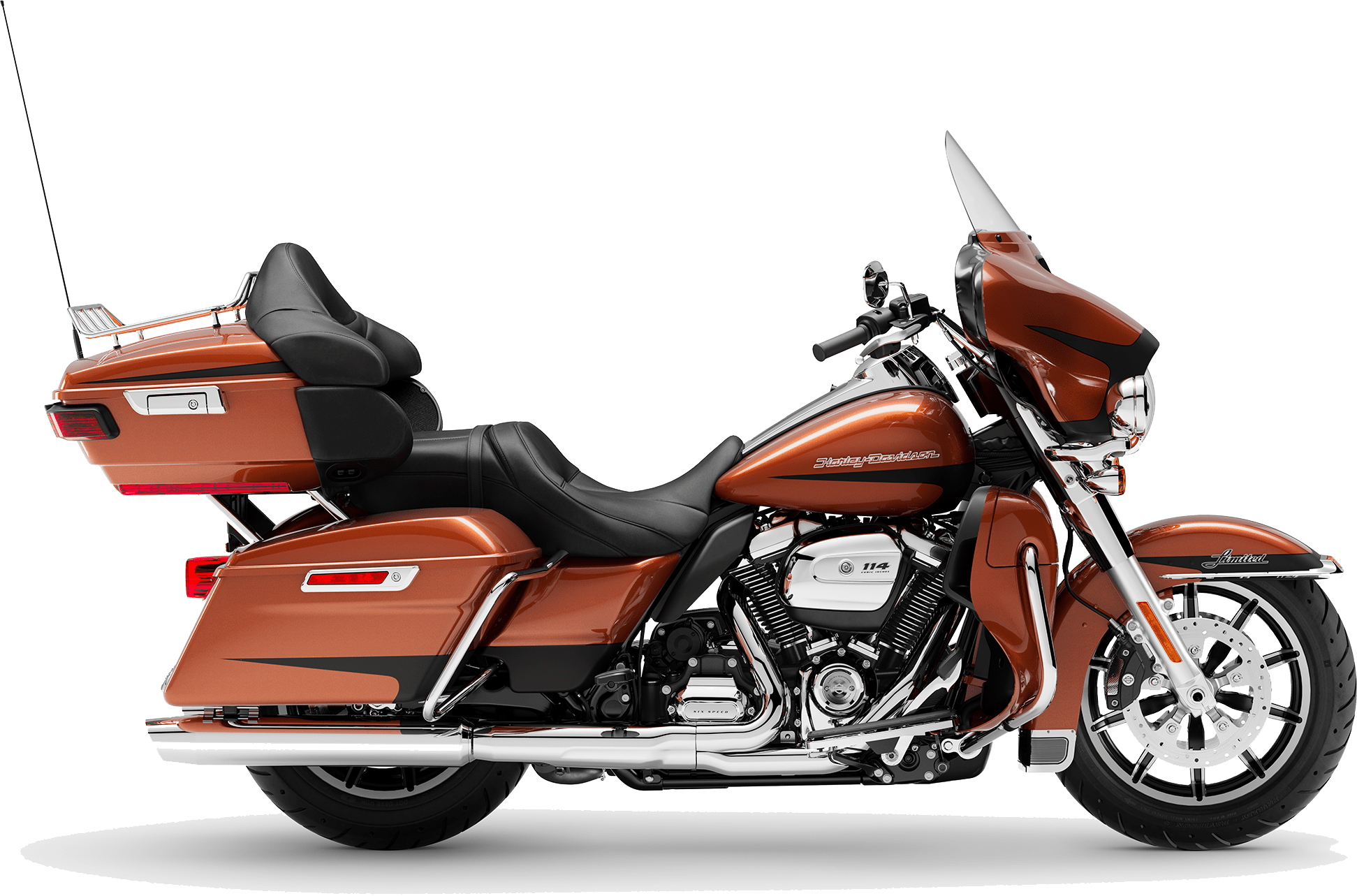 2019 Harley-Davidson H-D Touring Ultra Limited Low Scorched Orange Black Denim
