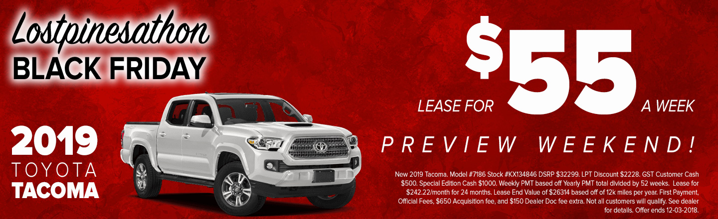 2019 Tacoma Special Offer
