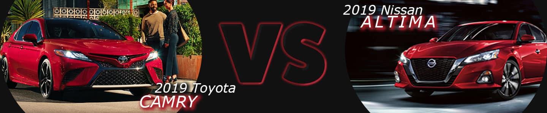 Nissan of Lumberton 2019 Toyota Camry vs 2019 Nissan Altima