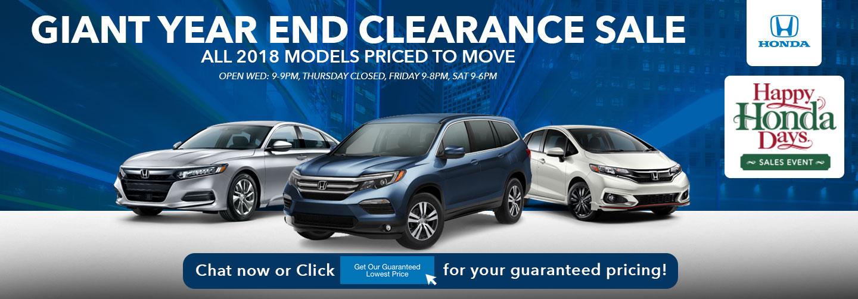 Year End Clearance Sale | Happy Honda Days | Muller Honda