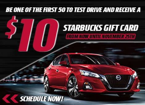 Bill Robertson Nissan Starbucks Test Drive