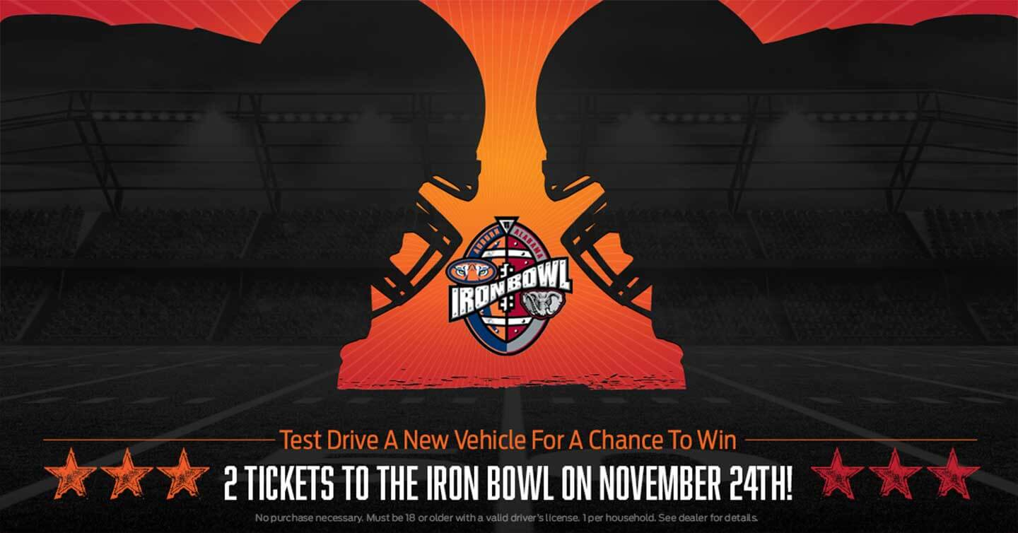 IRON BOWL TICKET GIVE AWAY