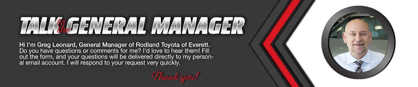Talk to the General Manager