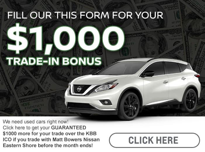 Trade-In Bonus Cash