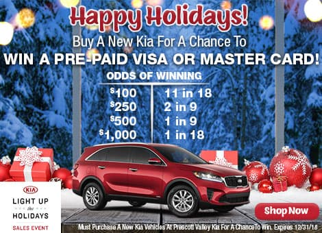 Win a Pre-paid Gift Card When you purchase a new Kia at Prescott Valley Kia