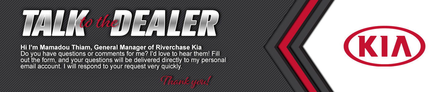 Talk to the General Manager, Mamadou Thiam, at Riverchase Kia
