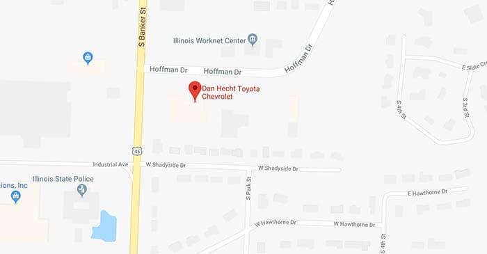 Dan Hecht Toyota New Used Car Dealership In Effingham Illinois - Toyota-map-updates-us