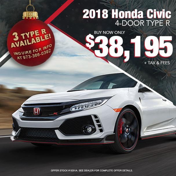 Joyce Honda 2018 Civic Type R Offer