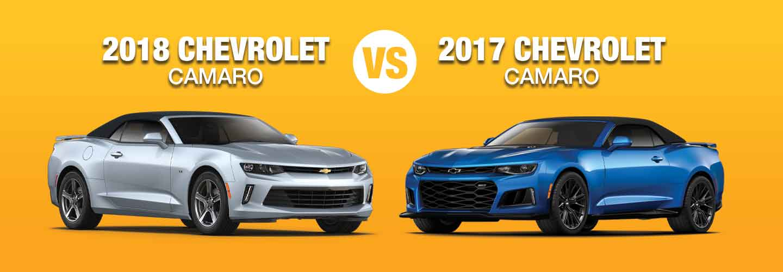 Difference Between 2018 Chevy Camaro Vs 2017 Chevy Camaro Compare