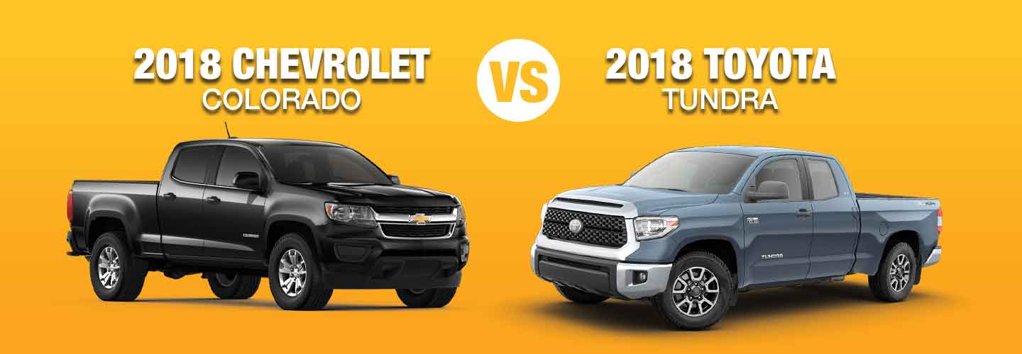 Difference Between 2018 Chevrolet Colorado vs Toyota Tundra