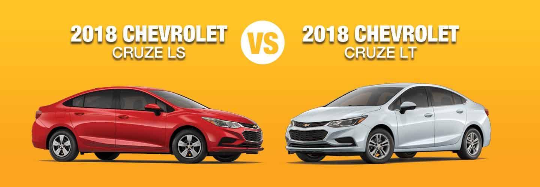 2018 Chevrolet Cruze Ls Vs 2018 Chevrolet Cruze Lt What S