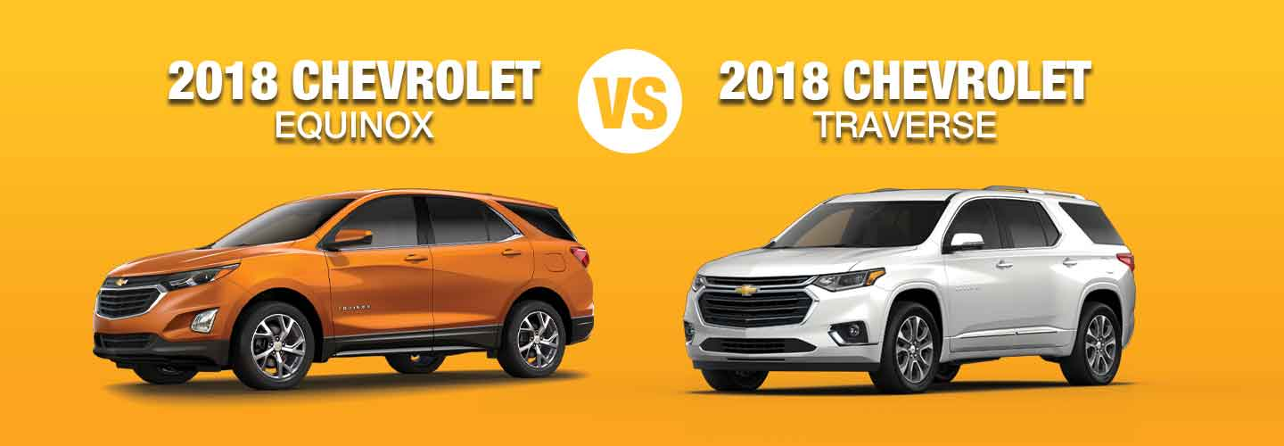 Difference Between 2018 Chevrolet Equinox vs Traverse