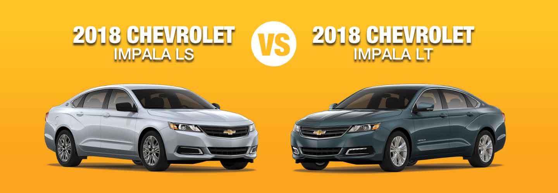 2018 Chevrolet Impala Ls Vs Lt Trim Compare Specs