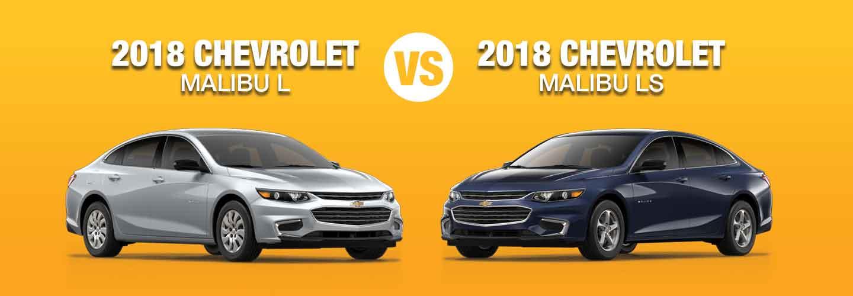 2018 Chevrolet Malibu L Vs Ls Trim Compare Specs