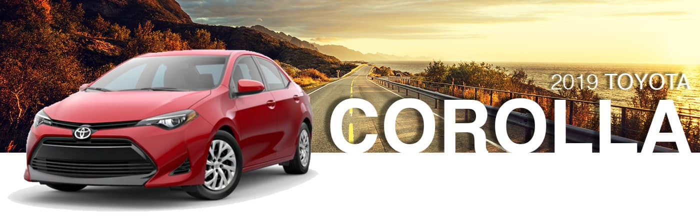 2019 Red Exterior Corolla On Road at Toyota of Bastrop