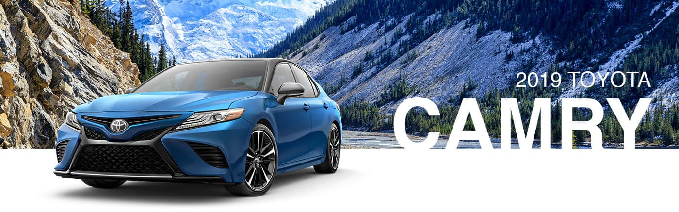 2019 Blue Exterior Camry On Road at Brownsville Toyota