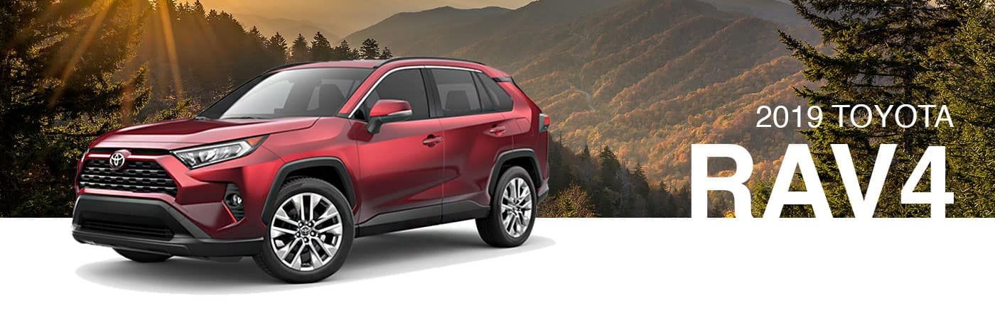 2019 Blue Exterior Rav4 On Road at Brownsville Toyota