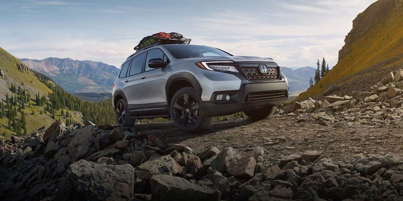2019 Honda Passport on rugged mountain trail