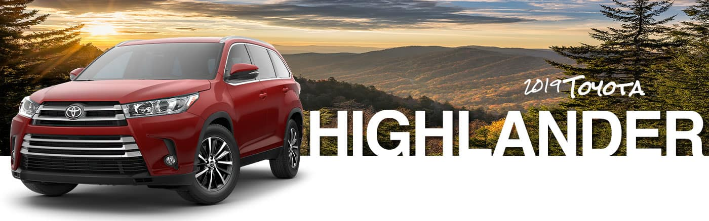 2019 Red Exterior Highlander On Road at Durant Toyota