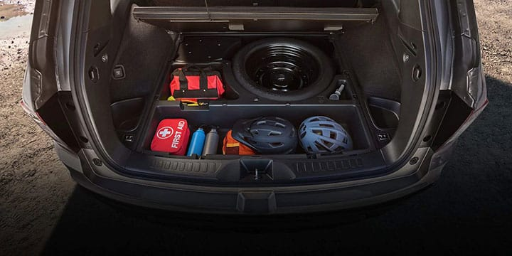2019 Honda Passport rear storage
