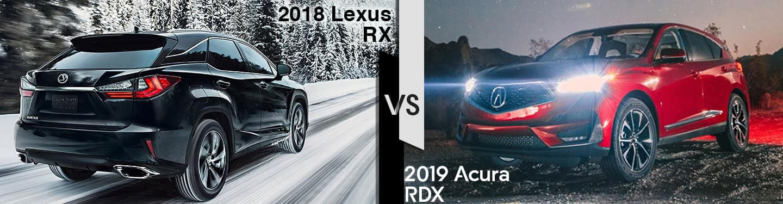 Indianapolis Acura Dealers 2019 Acura RDX vs. Lexus RX
