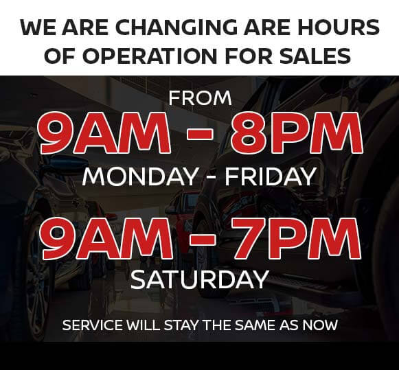 We are Changing the Sales Hours