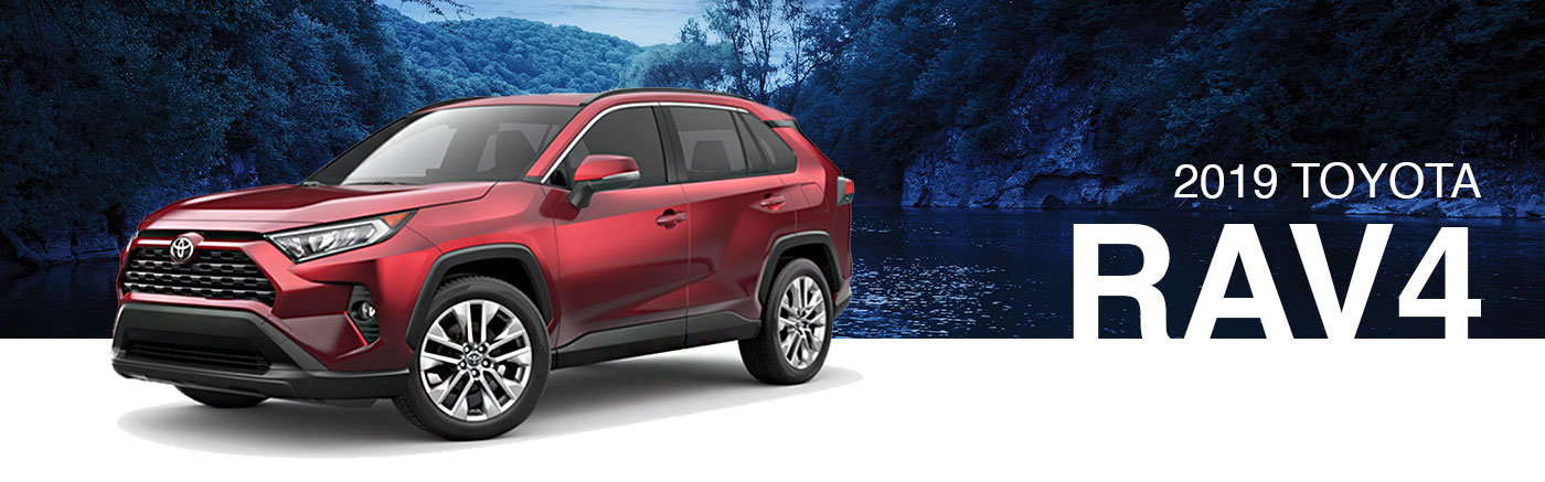 2019 Red Exterior rav4 On Road at Ehrlich Toyota
