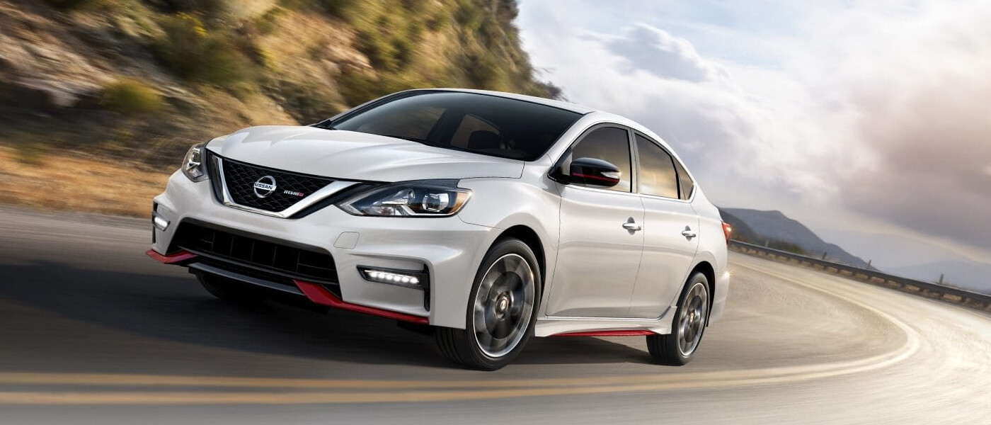2019 Nissan Sentra driving in turn