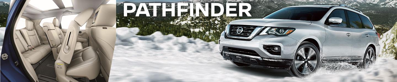 2019 nissan pathfinder silver white interior snow off road