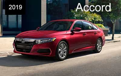 red 2019 honda accord driving left