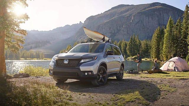 2019 Honda Passport at campsite