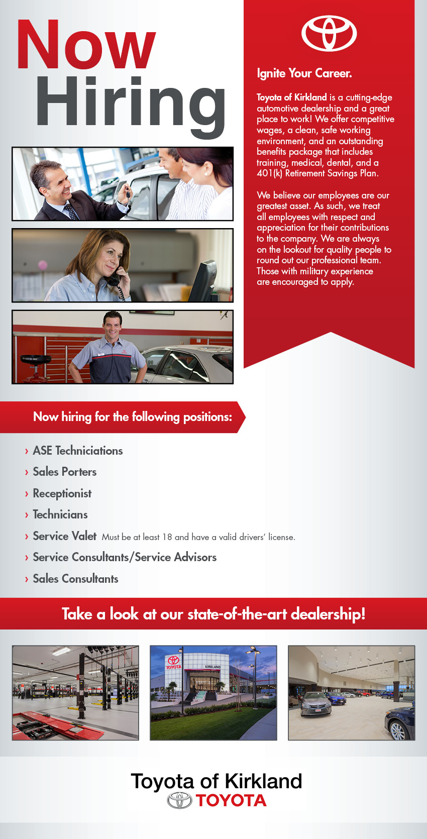 Now Hiring - Apply Today!