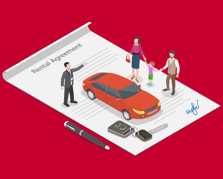 Rental car vector art